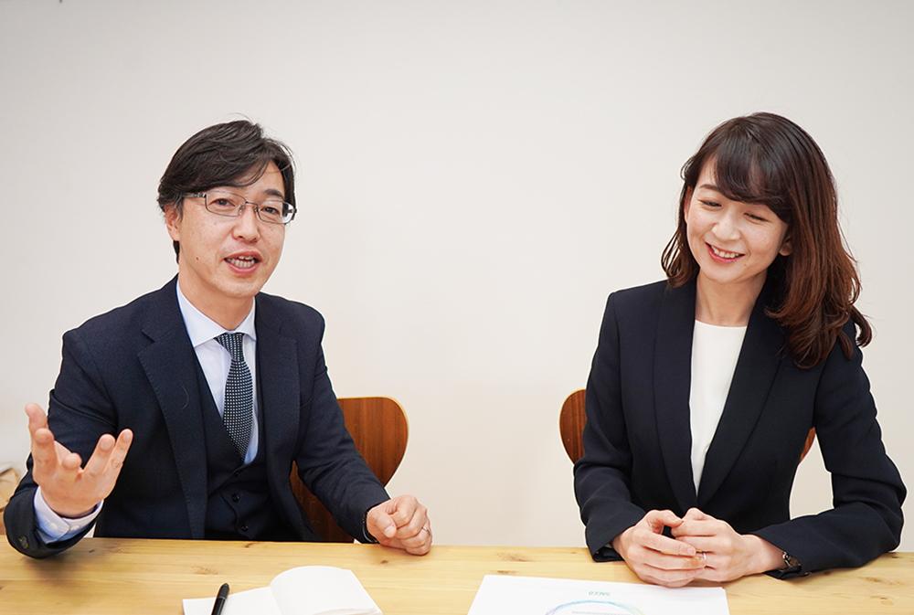 尾前損害調査オフィス代表取締役尾前美幸さんと統括マネージャー土井隆さん