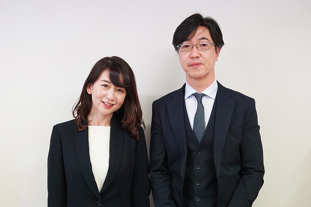 尾前損害調査オフィス株式会社代表取締役の尾前美幸さんと統括マネージャーの土井隆さん