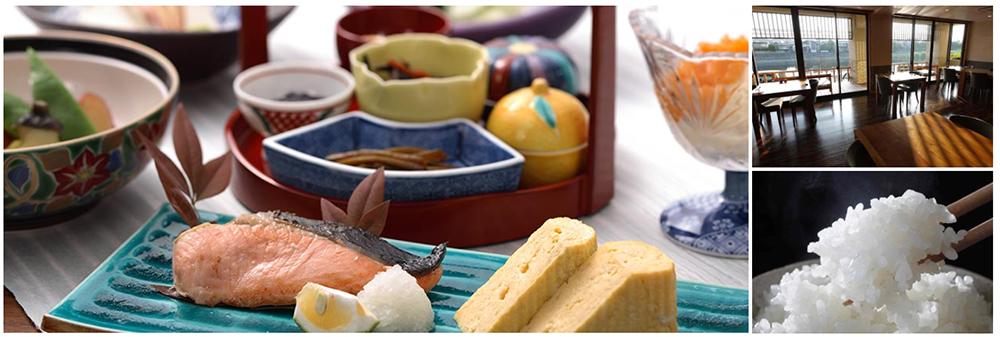 加賀野菜や地元素材の会席風の朝食