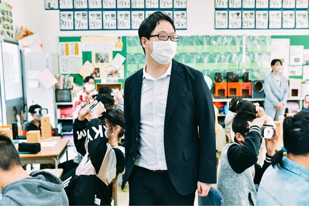 株式会社 BYD代表取締役井上創太さんの授業風景