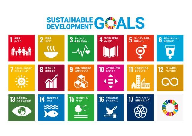 SDGs17のゴールの一覧