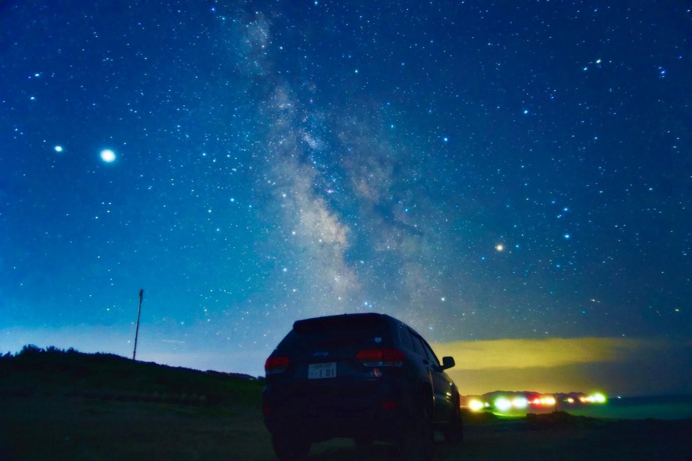 鳥海山の星空